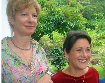 Elizabeth Worley och Dinanne Heidke, dina värdar på Finca Luz i Boquete, Panama